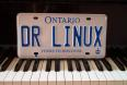 DR LINUX Ontario car license plate